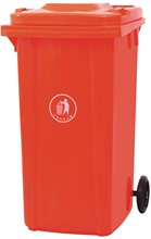 240l plastic waste bins/clothing recycle bins/recycled dustbin