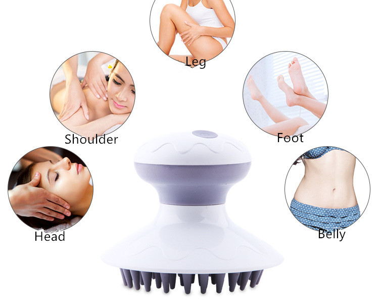 New arrive health electrical equipements hand held wireless body massager brush head massager