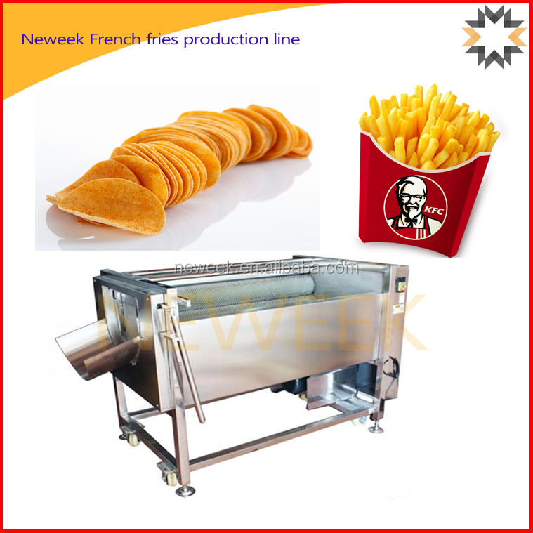 Neweek snacks food potato chips frozen french fries production line