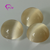 Wholesale loose stone yellow round cabochon flat back cat's eye gemstone