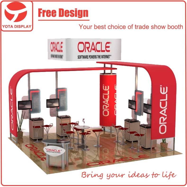 Yota offer Oracle, 20x20 exhibition trade show booth display