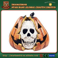 High quality halloween decoration fancy resin skull halloween pumpkin with low price