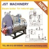 Latest horizontal 4 ton oil and gas steam boiler