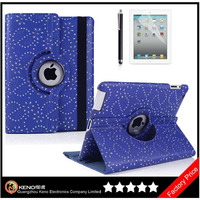 Keno Hot Diamond Encrusted Leather Tablet Case for iPad 2 3 4 Case Cover