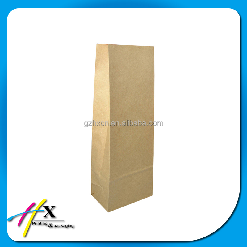 grocery recycled kraft paper bag with no handle