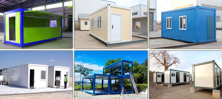 modern modular light steel 2 floor container house for living shop with 2 bedrooms design