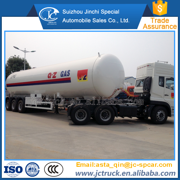 Alibaba China new 55m3 lpg road tanker trailer for hot sale