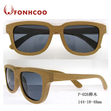 FONHCOO Dropshipping Custom Bamboo Eco-Friendly Wooden Temple Hinge Wood Sunglasses