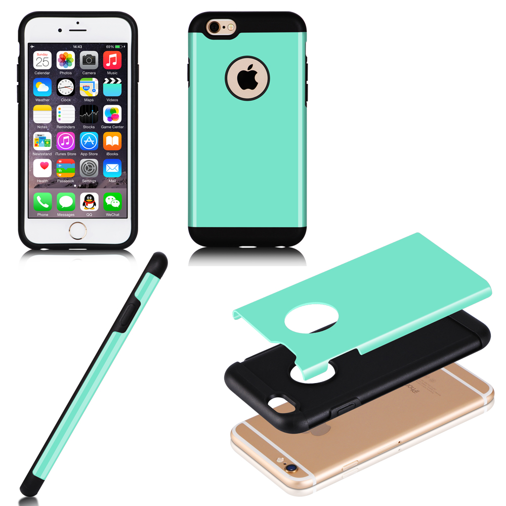 2016 Popular 2in1 TPU+PC Cell Phone Case Fancy Mobile Phone Back Case For iPhone 6