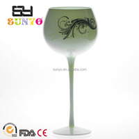 Lead Free Handmade Crystal Giant Wine Glass Vase