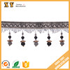 factory direct sale colorful beautiful curtain accessories with beaded decorative for door/ curtain/chair/ect