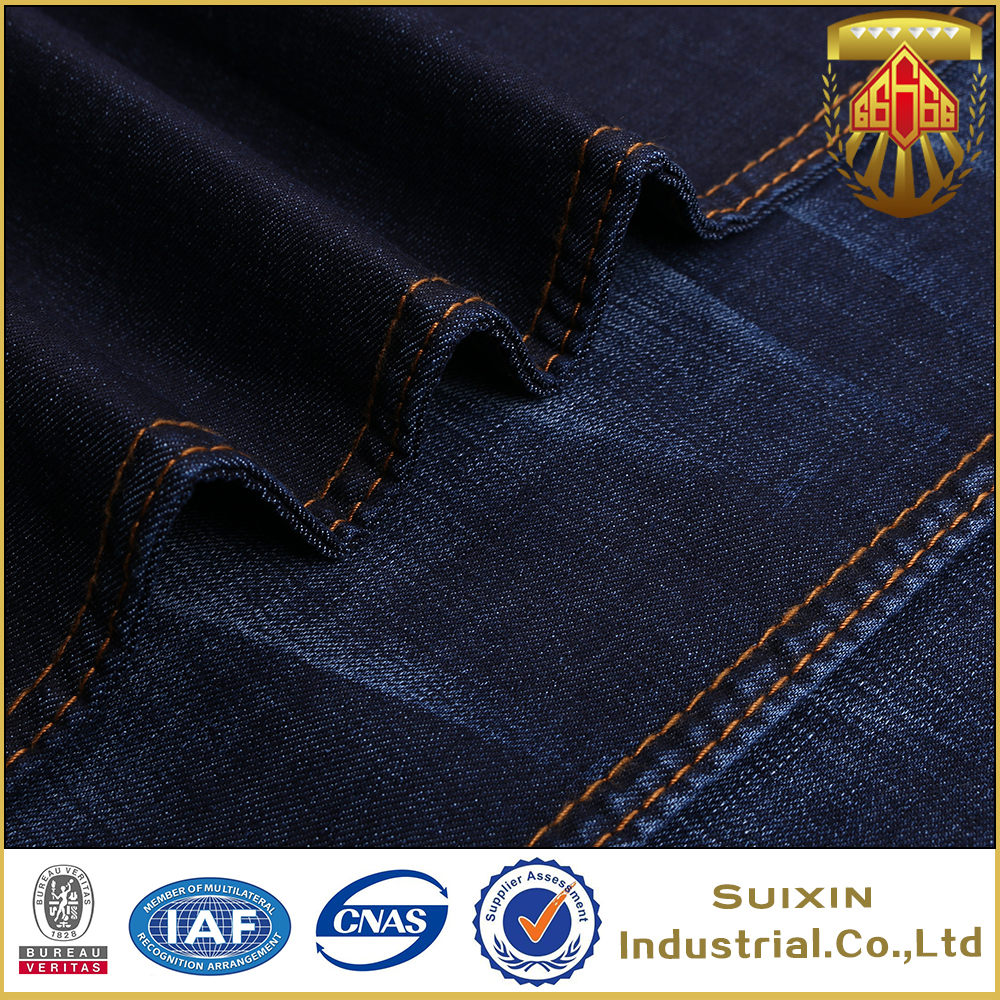 wholesale KQ8719 cotton polyester viscose spandex jeans denim fabric