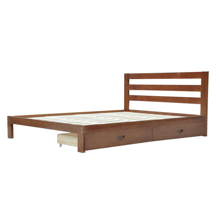 Cheap Flat Pack Furniture Plywood Wooden Double Bed Design