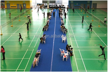High quality and portable used badminton court sport pvc flooring