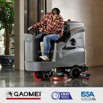 GM110BT85 Battery Power big large ride on floor scrubber