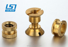 Customized CNC machining sleeve female threaded metal brass bushings