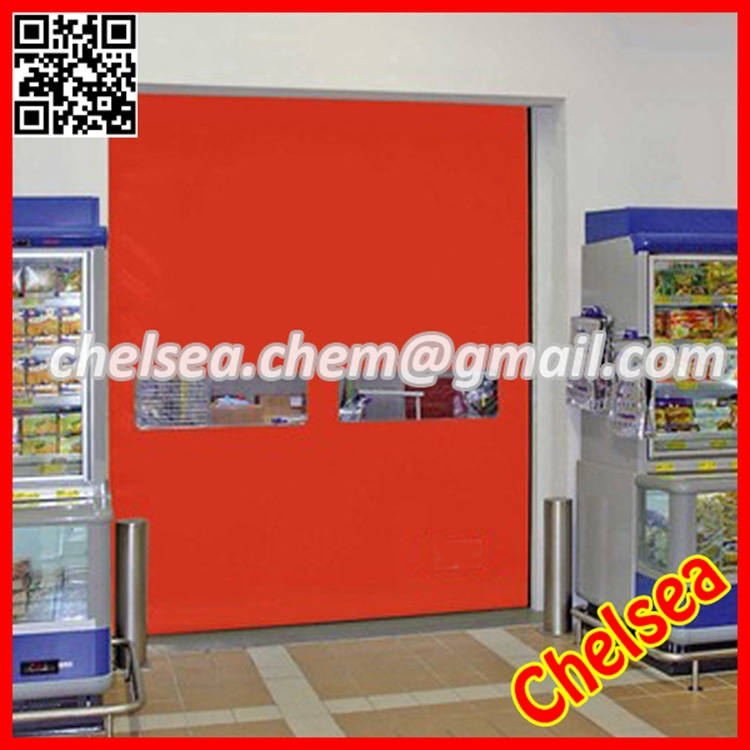 Remote control motorized high speed fabric roll up door