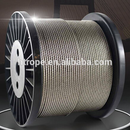 Stainless Steel Wire Rope 7X19 pvc cover Stainless Steel Cable 7X19