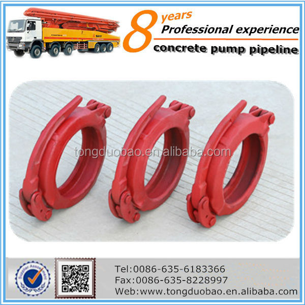 concrete pump fast clamp pipe clamp joints