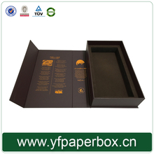 Customized magnetic closure cardboard gift box wine packaging with stamping logo