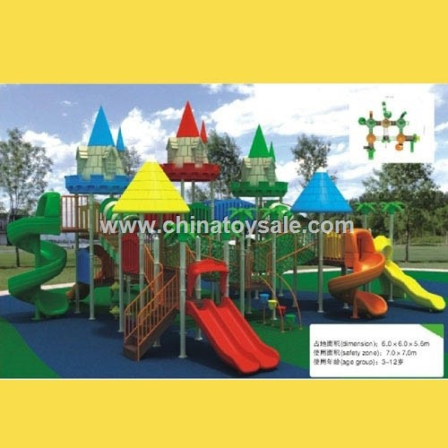 China Castle theme of plastic slide clips[H27-145]
