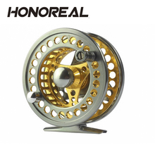 CNC machined cut fly fishing reel gold saltwater fishing reels