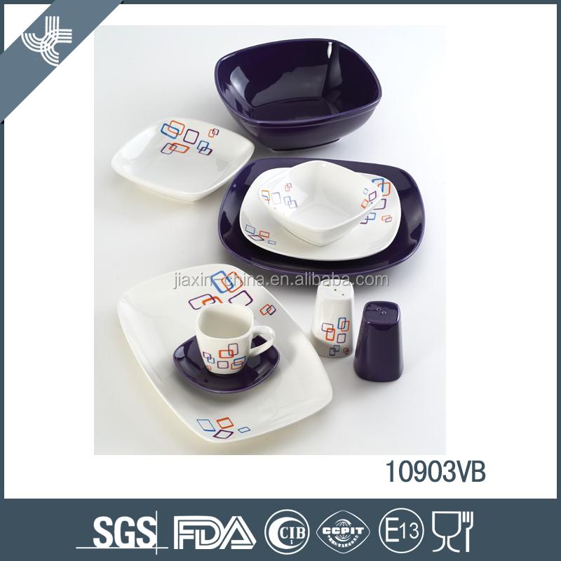 Elegant chinese porcelain ceramic tableware wholesale
