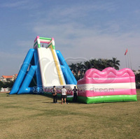 Giant water slide big beach inflatable water slide amusement water park