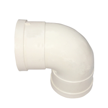 Proper price 40mm upvc plastic water pipe fittings 90 degree 3d elbow