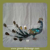 Home decor great colorful metal iron peacock