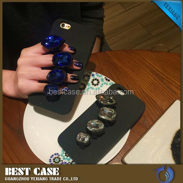 China suppliers diamond silicone cell phone case for iphone 6 soft back cover