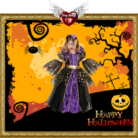 2016 Halloween Night Queen Witch Costumes Baby Witch Dancing Costume for Kids