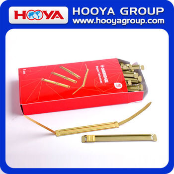 wholesale for office and school 8cm high quality brass paper fastener