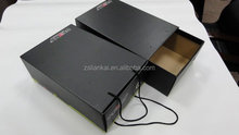 custom made cardboard shoe box with paper bag packaging