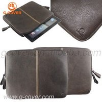 genuine leather case for ipad , for ipad case geunine leather