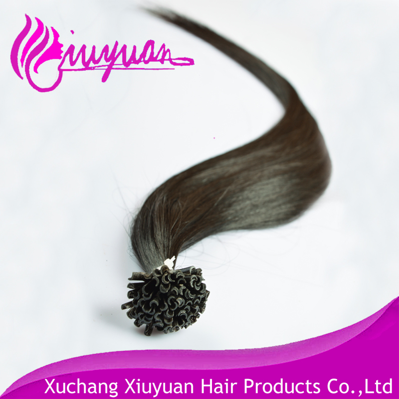 Hight quality products 100% full cuticle virgin remy brazilian <strong>u</strong> tip hair extension