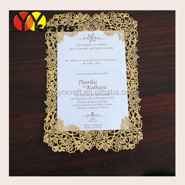 Handmade Wedding Invitation Card LacePaper Blank Wedding Invitation Models