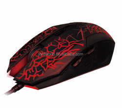 waterproof standard multimedia LED light wired gaming mouse for PC laptop desktop pad