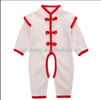 baby clothing wholesale traditional Chinese style jumpsuit one piece newborn baby romper