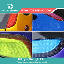 Self Adhesive 3D Purple Car Headlight Protective Car Wrapping Vinyl Foil