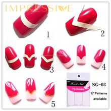 French Manicure Tip Guides,smile line,nail art sticker,17 patterns available for your choice 1201#