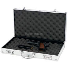 Aluminum New Framed Locking Gun Pistol HandGun Lock Box
