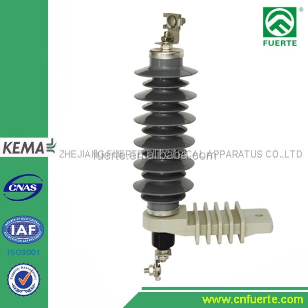 8kv polymeric surge arrestor lightning impulse voltage YH10W-18