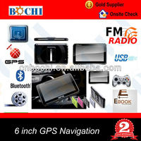 6 inch HD Free GPS Navigation software with FM AV-IN Bluetooth for Car
