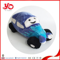 2015 Customized logo emb plush car toys for kids, Gifts for children plush baby soft toy car