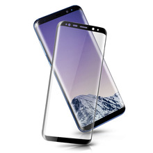 For mobile phone ultra thin 3D Tempered Glass for Samsung Galaxy S8 S8 Plus Rounded Edge Glass Screen Protector