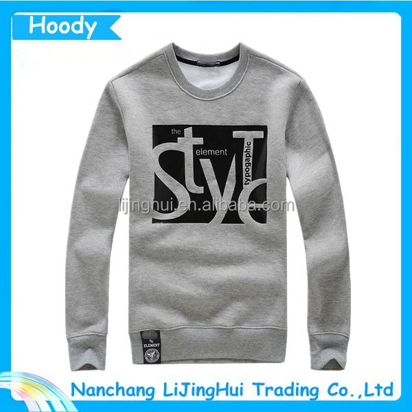 2015 latest cotton hoodies men With Custom Logo