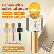 WSTER WS858 Handheld Wireless Condenser Magic Karaoke Microphone Mobile Phone Player MIC Speaker Record Music KTV Microphone