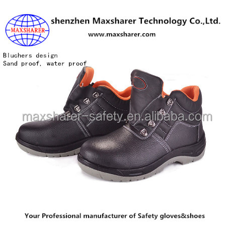 Sand proof safety shoes work genuine leather shoes supplier