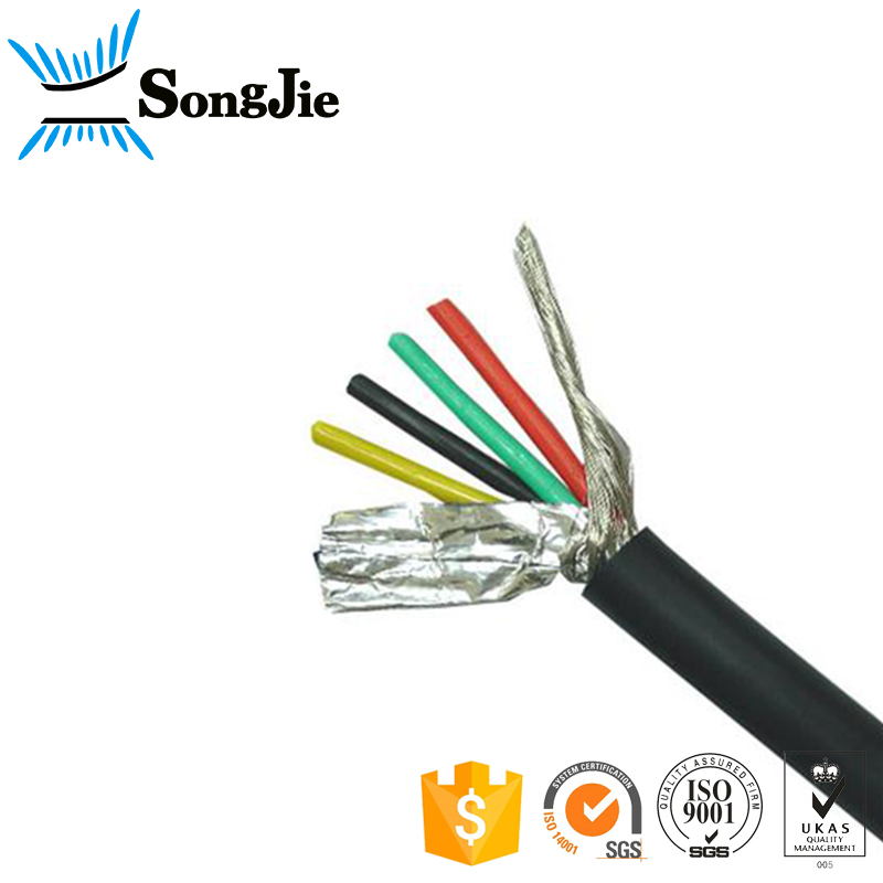 Computer Cable UL2464 Shielded Electrical hook up wire Braided 18awg 20awg 22awg 24awg 26awg 28awg